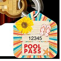 Pool Pass In Pentagon Shape, Sunflower Sandals Starfish