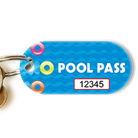 Pool Pass In Oblong Circle Shape, Swim Rings