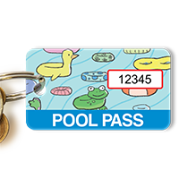Pool Pass In Rectangular Shape, Pool Toys Tags