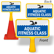 Aquatic Fitness Class ConeBoss Pool Sign