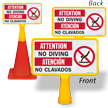 Bilingual ConeBoss Pool Sign