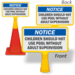 Children Should Not Use Pool ConeBoss Pool Sign