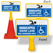 Handicapped Swim Lane ConeBoss Pool Sign