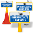 Intermediate Lane only ConeBoss Pool Sign