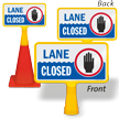 Lane Closed ConeBoss Pool Sign