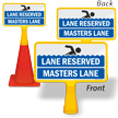 Lane Reserved Masters Lane ConeBoss Pool Sign