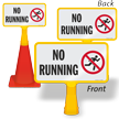 No Running ConeBoss Pool Sign