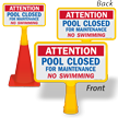 Pool Closed For Maintenance ConeBoss Sign