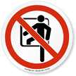 Confined Space ISO Prohibited Action Symbol Sign