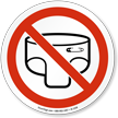 Baby Diaper Changing Not Allowed Prohibition Sign