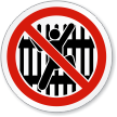 No Climbing Fence ISO Sign