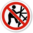 Do Not Climb Tower ISO Sign