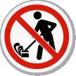 Do Not Create Dust ISO Sign