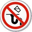 Do Not Pour Liquids Down Drain ISO Sign