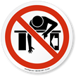 Do Not Reach Into ISO Prohibited Action Sign