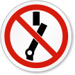 Do Not Switch ISO Sign