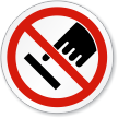 Do Not Touch ISO Sign