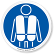 Life Jacket Required ISO Sign