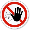 No Access For Unauthorized Persons ISO Sign