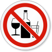 No Alcohol ISO Sign
