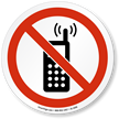 No Cell Phones Or Radio Transmitters ISO Sign