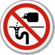 Do Dumping (Drain) Symbol ISO Prohibition Circular Sign