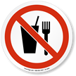 No Food Or Drink ISO Sign