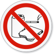 Do Not Eat, Drink Or Smoke Symbol ISO Sign