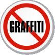 No Graffiti ISO Circle Sign