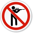 No Hunting ISO Prohibition Sign