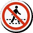 No Pedestrian ISO Prohibition Sign