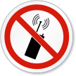 No Mobile Phones Or Transmitters ISO Prohibition Sign