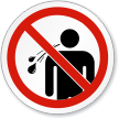 No Spitting ISO Prohibition Sign