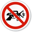 No Taser Stun Gun Symbol ISO Sign