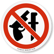 No Weapons ISO Prohibition Sign