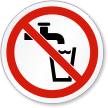 Not Drinking Water ISO Sign