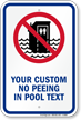 Customizable No Peeing In Pool Sign