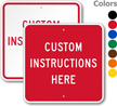 Custom Square Industrial Sign Template