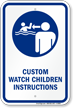 Customizable Watch Children Instructions Sign