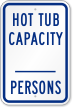 Hot Tub Capacity Sign