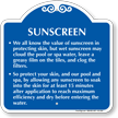 Let Sunscreen Dry Before Entering Water Sign