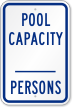 Pool Max Capacity Persons Sign