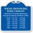 Custom Social Distancing Pool Capacity Sign