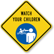 Watch Your Children Pool Safety Sign