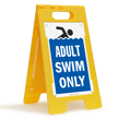 Adult Swim Only Floor Sign