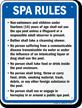 Alabama Spa Rules Sign