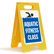 Aquatic Fitness Class Floor Sign