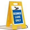Beginner Lane Only Floor Sign