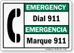 Bilingual Emergency Sign