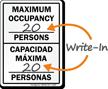 Bilingual Maximum Occupancy Persons Sign